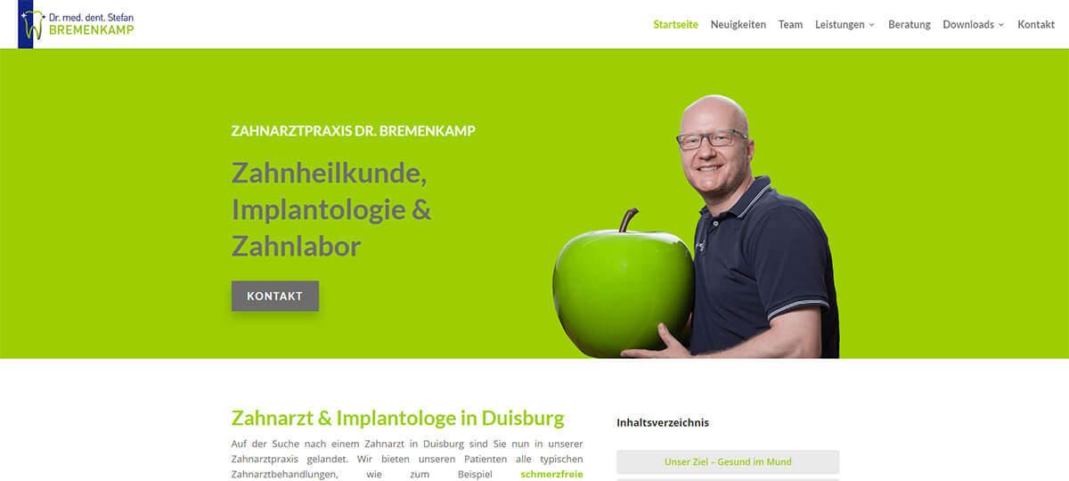 Referenz Dr. Bremenkamp Duisburg